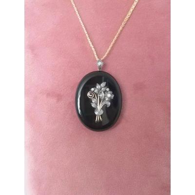 Antiek (onyx) medaillon