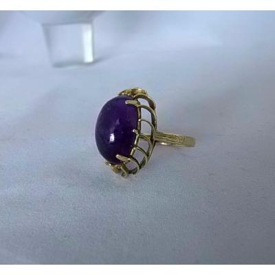Gouden Ring Amethist