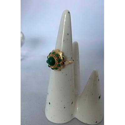 Gouden ring Malachiet