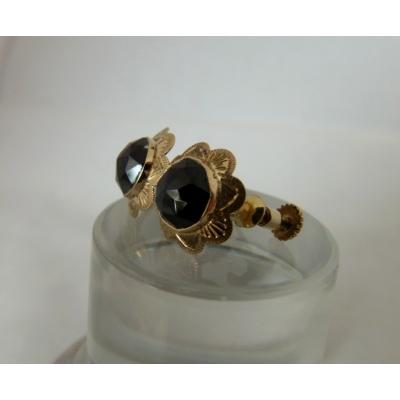 gouden oorbellen granaat