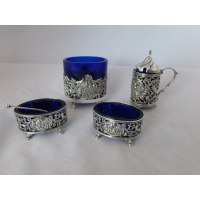 4delige zilveren tafelset (verkocht)