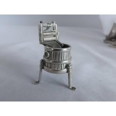 Zilveren wastobbe