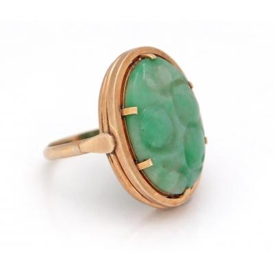 Gouden ring Jade